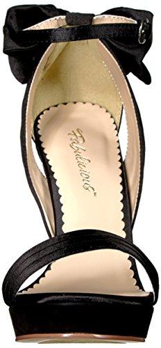 Blk Platform Pleaser Women's Sandal Satin Lumina25 Bsa pCfvcvq6U
