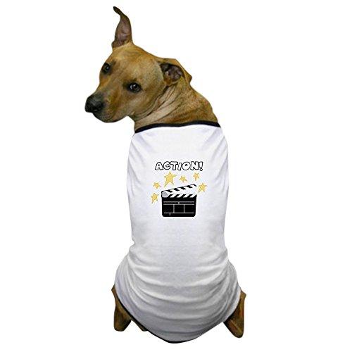 CafePress - Action - Dog T-Shirt, Pet Clothing, Funny Dog (Movie Producer Costume)