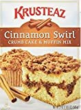 Krusteaz Cinnamon Swirl Crumb Cake and Muffin Mix, 21-Ounce Boxes (Pack of 2)