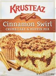 Krusteaz Cinnamon Swirl Crumb Cake and Muffin Mix, 21-Ounce Boxes (Pack of 2) (Crumb Cake Muffins)