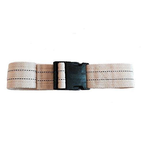 (SafetySure Pinstripe Gait Belt, Patient Transfer and Walking Gait Belt with Plastic Buckle for Caregiver, Nurse, Therapist, 54