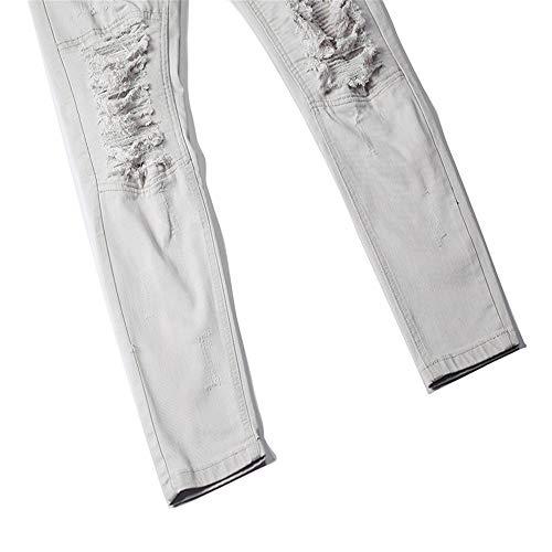 colore Yzibei E Da Uomo Dritti 3 Grigio Strappati Grigio Dimensione Attillati 37 Casual Jeans Caldi Pantaloni 1 Eu v8rxqw4Uv
