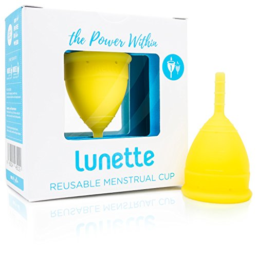 Lunette Menstrual Cup - Yellow - Reusable Model 1 Menstrual Cup for Light Flow