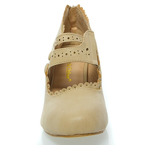 amp; Jane High Heel Mina4 Womens Chase Nude Mary Shoes Toe Closed Chloe dqSnT