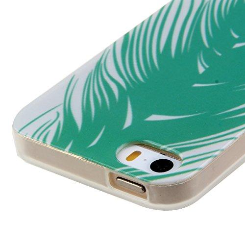 Transparent Coque pour Apple iphone 5/5s, Soft Souple Crystal TPU Shell étui Couverture arrière en Silicone pour iphone 5s, Ekakashop iphone 5 Flexible Gel Housse Back Case Cover, Jolie Dessin Couleur