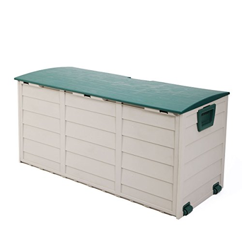 Tobbi Outdoor Patio Deck Storage Box Garage Shed Backyard Garden Tool Box Container by Tobbi
