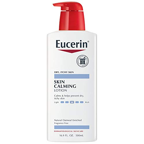 Eucerin Skin Calming Lotion - Full Body Lotion for Dry, Itchy Skin, Natural Oatmeal Enriched - 16.9 fl. oz Pump Bottle (Best Lotion For Very Itchy Skin)