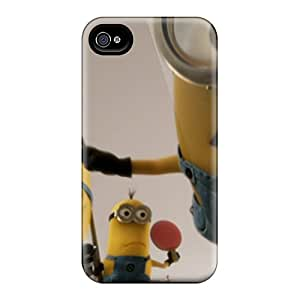 Quality ChristineBR Case Cover With Minions Nice Appearance Compatible With Iphone 4/4s