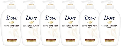 Dove Caring Hand Wash, Fine Silk, 250 Ml / 8.45 Oz (Pack of 6)