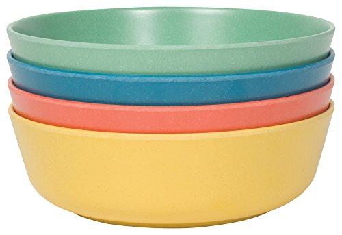 Now Designs Ecologie Dinner Bowls, Set of Four, Fiesta Colors -