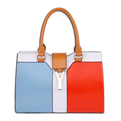 Kaxidy Tote Bags Bag Totes Bag Handbags Shoulder Orange Blue