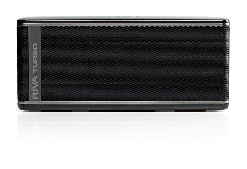 RIVA TURBO X RTX01B (Non-charging only works with power cord!!) Premium Wireless Bluetooth Speaker (Black) (Renewed) (De La Riva)