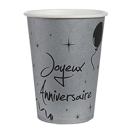 Chal - 20 vasos plateados para cumpleaños: Amazon.es: Hogar