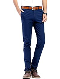 Men's Casual Stretch Pant Comfort Straight Leg Trousers 22-Color