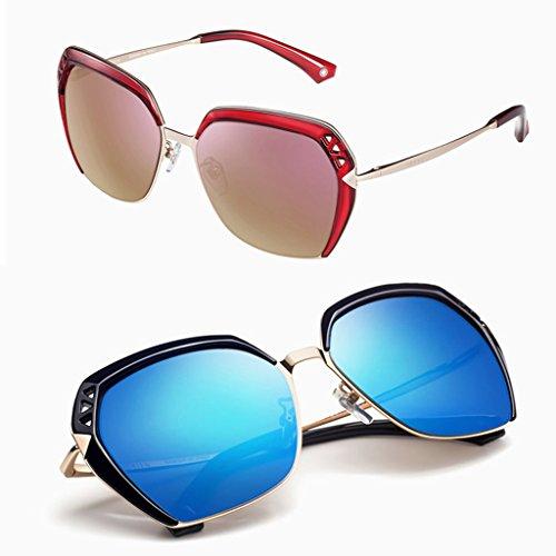 Blue lunettes lady soleil Élégantes polarisées de ZvX5xnOq