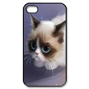 Clzpg Custom Iphone4,Iphone4S Case - Grumpy cat phone case