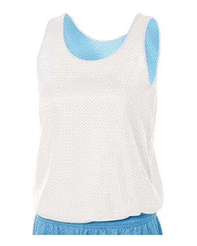 A4 Sportswear Light Blue/White Ladies Medium Women's Reversible Mesh Tank (Blank) Uniform Jersey Top