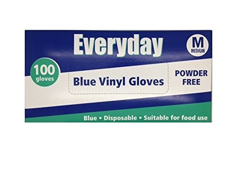 Everyday My Care Medium Blue Powder Free Disposable Vinyl Glove - Pack of 100 by Everyday My Care by Everyday My Care