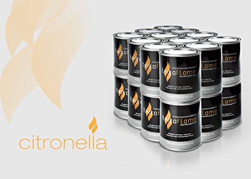 SunJel Fume-free Firespace Gel Fuel Canister, Citronella Gel, 24-Pack
