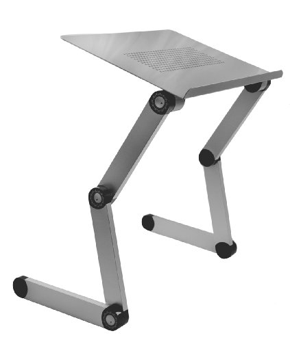 Adjustable Vented Laptop Table Laptop Computer Desk Portable Bed Tray Book Stand Push Button Joints up to 17