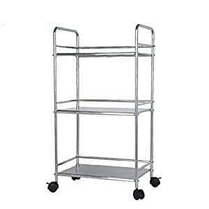 Amazon.com: EPG-Life 3 Tier Stainless Steel Microwave Cart ...