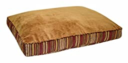 Petmate Microban Pet Bed Petmate Deluxe Pillow Bed with Microban, Gusseted Red/Gold Striped Chenille, 27-inch X 36-inch