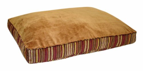 petmate-microban-pet-bed-petmate-deluxe-pillow-bed-with-microban-gusseted-red-gold-striped-chenille-