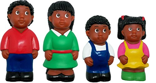 Search : Get Ready Kids African American Family Figures Toy (4 Piece), Multi, 5""