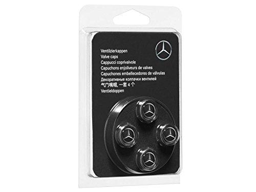 Genuine Mercedes Benz Black Style Valve Caps B66472002 (Set of 4) by Mercedes Benz