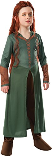 [The Hobbit: Desolation of Smaug, Child Tauriel Costume, Large - Large One Color] (Lotr Elves Costumes)