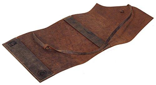 Greenburry Vintage Taschen-Organizer Notizbuch mit Wildschwein-Motiv Leder-Einband DIN-A6