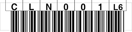 /000099 Gamma di numeri 000900-000999 LTO 6/Label Horizontal numero cerchio 000001/