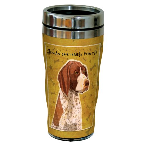 Tree-Free Greetings sg24023 German Shorthaired Pointer by John W. Golden 16-Ounce Sip 'N Go Stainless Steel Lined Travel Tumbler
