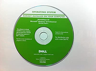 Dell Operating System Windows XP Professional Service Pack 2 Part Number #JD153 Year 2005