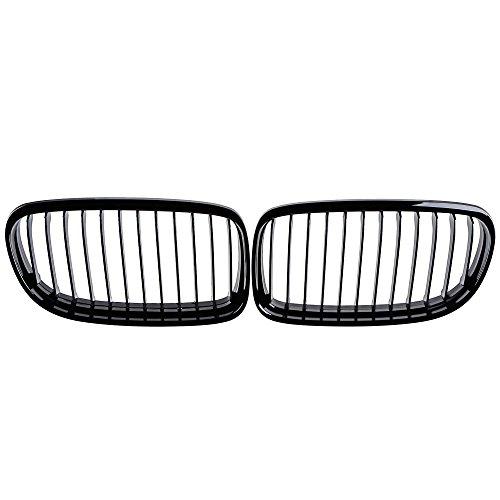 2X Glossy Black Euro Front Sport Kidney Grille Fit BMW E90 E91 323i 325i 328i 330i 335i 2009 2010 (Bmw 323i Grille)