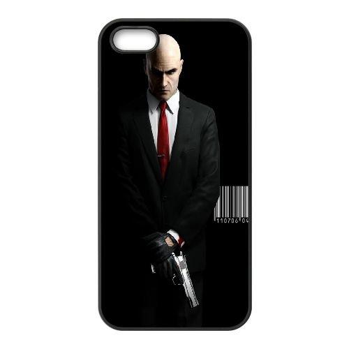 Hitman coque iPhone 5 5S cellulaire cas coque de téléphone cas téléphone cellulaire noir couvercle EOKXLLNCD24409