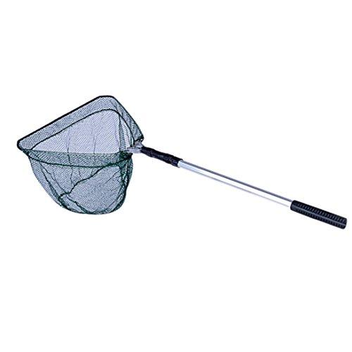 Net, Hometom Catch and Release Fish Landing Net Telescoping Handle Foldable Hoop (Green) by Hometom