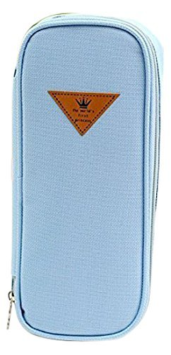 Blue Candy Camera Case - Canvas Pencil Case,Contracted Candy Color,Large Capacity Multifunction (Blue)