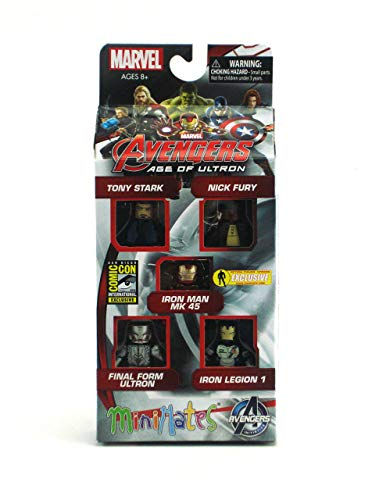 (San Diego Comic Con 2015 Exclusive Avengers Age of Ultron Marvel Minimates Set of 5)
