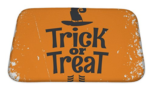 Gear New Memory Foam Bath Rug, Trick Or Treat Halloween Witch Lettering, 24x17, 6299716GN