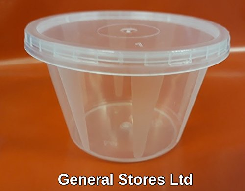 50 x Food Grade Baby Weaning Tubs Pots plus Lids - 4oz 100ml 100 ...