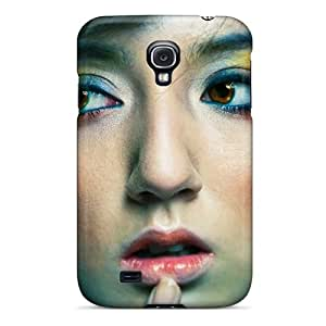 New Premium Flip Case Cover Beautiful Portrait Girl Skin Case For Galaxy S4