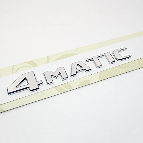 2008 Mercedes Benz Diesel (OEM Mercedes-Benz 4Matic Nameplate Emblem 3D Chrome Trunk Logo Badge Decoration AMG For 17+ (CHROME))