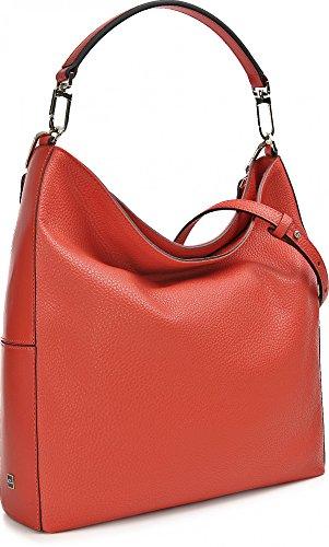 Gianni Chiarini, Borse A Tracolla In Pelle Da Donna, Hobo Bag, Shopper, Tracolle, 35 X 33 X 11 Cm (lxxh), Colore: Rosso