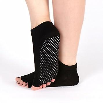 XIU*RONG Calcetines Deportivos, Algodón Peinado, Yoga, Toe Toe Cinco Calcetines Calcetines