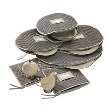 Richards Homewares Micro Fiber Deluxe Six Piece Accessory Set - Grey