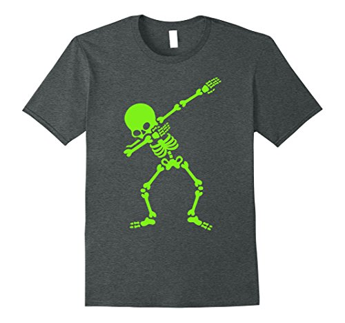 Witty Halloween Costumes (Mens Dabbing Skeleton Halloween Costume - Party halloween T Shirt XL Dark Heather)
