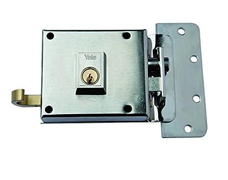 Yale 610DHN Cerradura de Sobreponer, 6. A Mano Derecha Entrada 55 mm / Dcha Hierro Niquelado: Amazon.es: Bricolaje y herramientas
