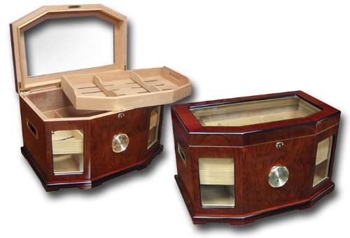 Prestige Import Group - The Chancellor Beveled Glass Top Cigar Humidor - Color: ()