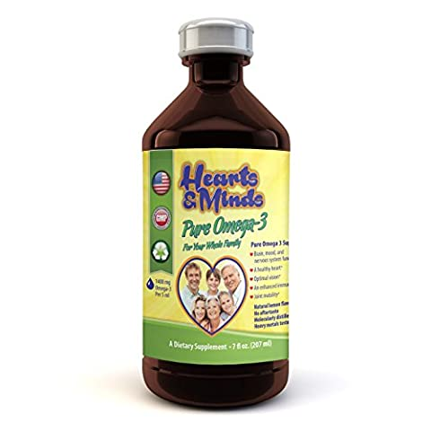 Omega-3 Ultimate EPA DHA Supplement - for Kids, Teens, Adults, Seniors - Supports Healthy Heart, Joints, Brain and Immune Function - Lemon Flavor, Non GMO, No Sugar or Gluten (5ml per day) 7 fl - 9 Junior Liquid